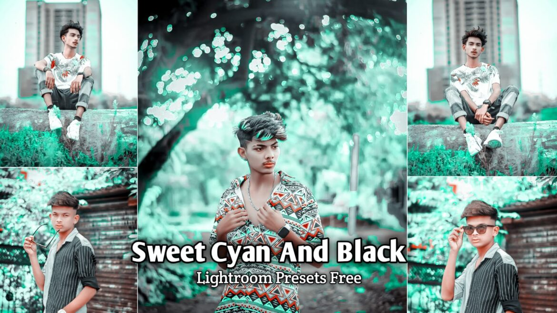 Sweet Cyan And Black Lightroom Presets Download | BRD Editz